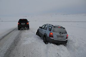 It can be tricky to drive in Iceland